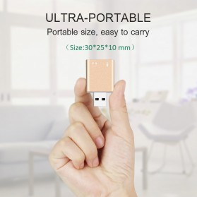 External USB Sound Card 3D Audio 7.1 - Black - 6