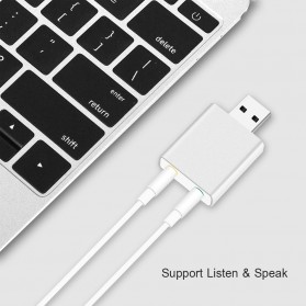 External USB Sound Card 3D Audio 7.1 - Black - 7