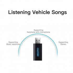 Vention External USB Sound Card - Black - 2