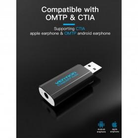 Vention External USB Sound Card - Black - 3