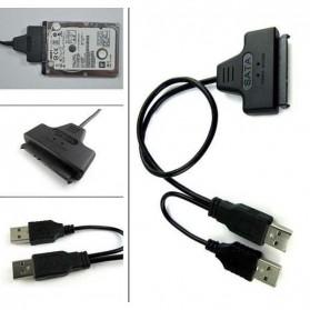 Kabel Konverter HDD 2.5 Inch SATA 7+15 Pin to USB 2.0 - TSR369 - Black - 6