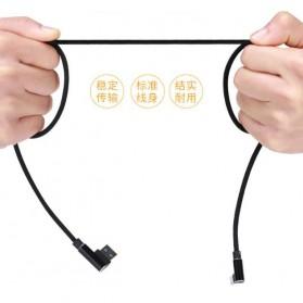 Kabel Charger Micro USB L Shape 2.1A 1 Meter - Black - 10