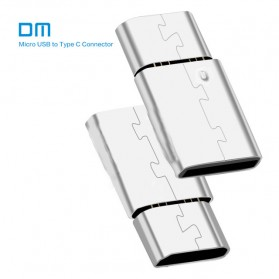 DM USB Type C to Micro USB Male Adapter - Silver