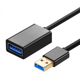 Kabel Ekstensi USB 3.0 Male to Female 3 Meter - Black