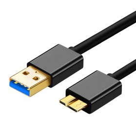 Kabel Data USB Micro B High Speed 1.2 Meter - Black
