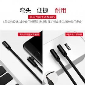 OLAF Kabel Charger USB Type C Braided L Shape 1 Meter - L88 - Black - 6
