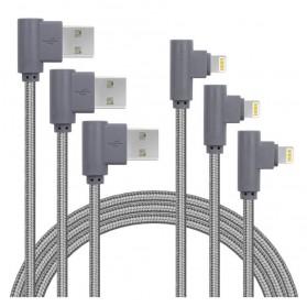 Kabel Charger Lightning L Shape - 1M - Black - 3