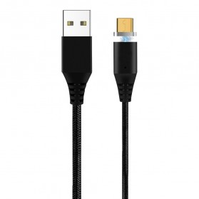 Kabel Charger Magnetic Micro USB 1 Meter - Black