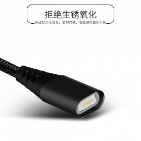 Kabel Charger Magnetic Micro USB 1 Meter - Black - 10