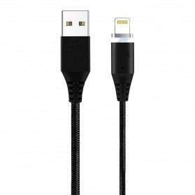 Kabel Charger Magnetic Lightning 1 Meter - Black