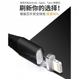 Kabel Charger Magnetic Lightning 1 Meter - Black - 7