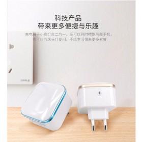Charger USB 2 Port 3.1A dengan Lampu LED - White - 4