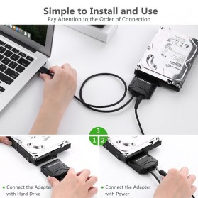 E-yield Kabel Adapter USB 3.0 to SATA for 3.5 / 2.5 Inch HDD SSD - ZD0004 - Black - 4