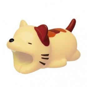 Pelindung Kabel Charger USB Protector model Binatang - Cat - Multi-Color