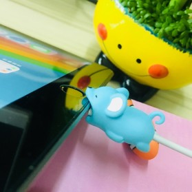 Pelindung Kabel Charger USB Protector model Binatang - Duck - Multi-Color - 3