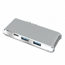Robotsky USB Hub Docking 6 in 1 USB Type C with HDMI 4K & Card Reader - YC-204B - Silver - 2