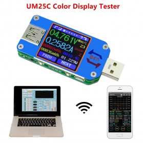 Rui Deng UM25C Voltmeter Ammeter Voltage Current USB Meter Bluetooth Version