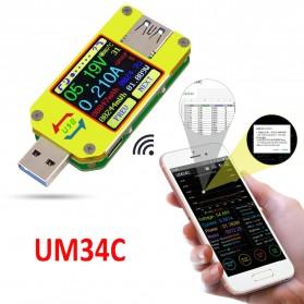 Rui Deng UM34C Voltmeter Ammeter Voltage Current USB Meter Bluetooth Version