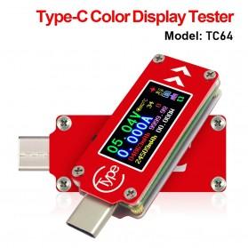Rui Deng TC64 Voltmeter Ammeter Voltage Current USB Type C Meter