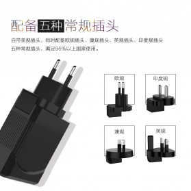 Travel PD Charger Smartphone USB Type C 2 Port 3.1A - RK-C002 - Black - 2