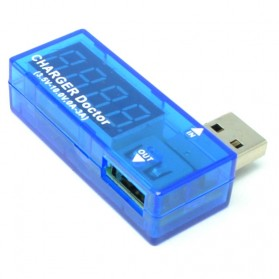 USB Power Current and Voltage Tester - Blue