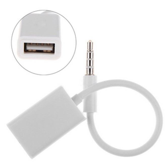 USB Kabel Data / Data Cable - Adapter AUX 3.5mm ke USB 2.0 Female -
