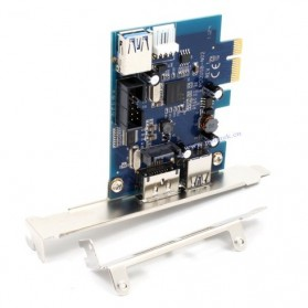 PCI Express to USB 3.0 and eSata PCI Card with Built-in USB 2.0 - A-PCIE2P - Black