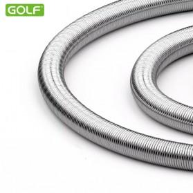 Golf Kabel Charger Lightning Metal Spring - GC-33 - Silver - 3