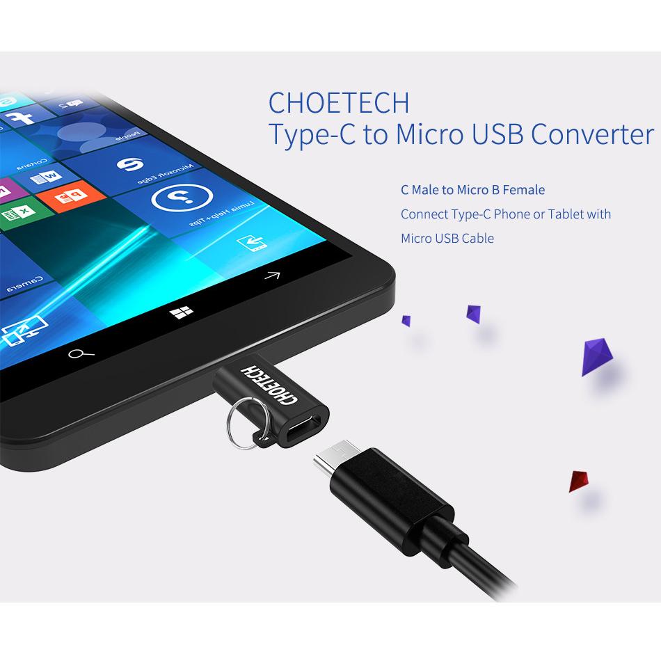 Choetech Usb Type C To Micro Adapter Converter Black Orico 31 Ctm1 Silver 2