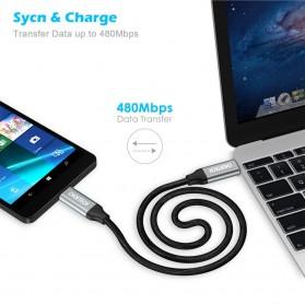 CHOETECH Kabel Charger USB Type C to Type C Braided 3A 1 Meter - XCC-1001BK - Black - 3