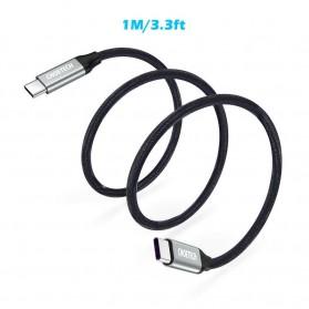 CHOETECH Kabel Charger USB Type C to Type C Braided 3A 1 Meter - XCC-1001BK - Black - 4