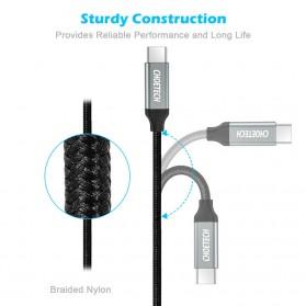 CHOETECH Kabel Charger USB Type C to Type C Braided 3A 1 Meter - XCC-1001BK - Black - 5
