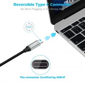 CHOETECH Kabel Charger USB Type C to Type C Braided 3A 1 Meter - XCC-1001BK - Black - 6