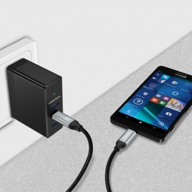 CHOETECH Kabel Charger USB Type C to Type C Braided 3A 1 Meter - XCC-1001BK - Black - 7