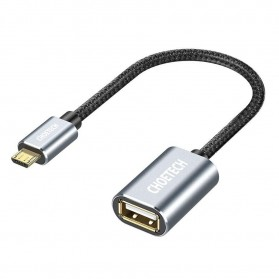 CHOETECH Kabel Ekstensi Micro USB to USB Female 20 cm - AB0013 - Black