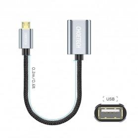 CHOETECH Kabel Ekstensi Micro USB to USB Female 20 cm - AB0013 - Black - 2