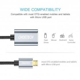 CHOETECH Kabel Ekstensi Micro USB to USB Female 20 cm - AB0013 - Black - 3