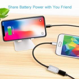 CHOETECH Kabel Ekstensi Micro USB to USB Female 20 cm - AB0013 - Black - 7