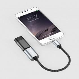 CHOETECH Kabel Ekstensi Micro USB to USB Female 20 cm - AB0013 - Black - 8