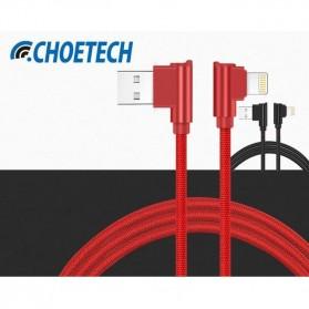 Choetech Kabel Charger Lightning L Shape 2.4A  1.2 Meter - IP007 - Black - 4