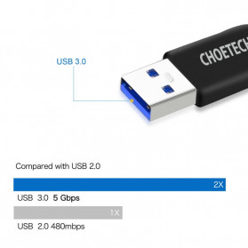 Choetech Kabel USB Type C to USB 3.0 Cable 1 Meter - AC3001 - Black - 2