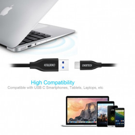 Choetech Kabel USB Type C to USB 3.0 Cable 1 Meter - AC3001 - Black - 3