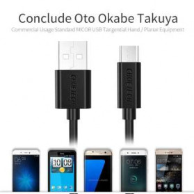 CHOETECH Kabel Charger Micro USB Fast Charging 2.4A 1.2 Meter - AB003 - Black - 3