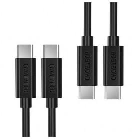 CHOETECH Kabel Charger USB Type C to Type C 1 Meter - CC0002 - Black - 2