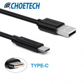 CHOETECH Kabel Charger USB Type C Hi Speed 3A 1 Meter - AC0002 - Black - 2