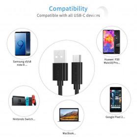 CHOETECH Kabel Charger USB Type C Hi Speed 3A 1 Meter - AC0002 - Black - 3