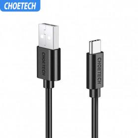 CHOETECH Kabel Charger USB Type C Hi Speed 3A 1 Meter - AC0002 - Black - 4