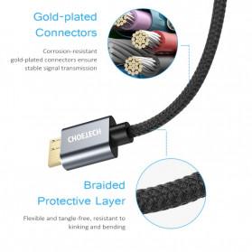 Choetech Kabel Data HDD USB 3.0  to USB 3.0 Micro B 1 Meter- AB0012 - Black - 4