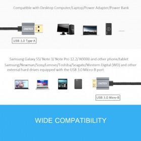 Choetech Kabel Data HDD USB 3.0  to USB 3.0 Micro B 1 Meter- AB0012 - Black - 5