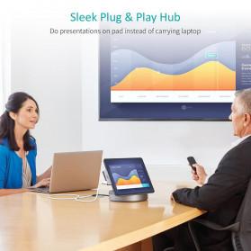 Choetech USB HUB Type C Docking Station 4 Ports USB 3.0 + HDMI + USB Type C + AUX - HUB-M13 - Gray - 3